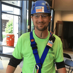 Parker Thornton about to Go Over the Edge