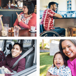 Verizon's collage of updated images that show way people with disabilities are viewed