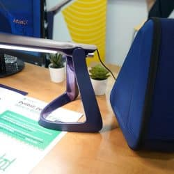 The Lexilight is pictured on a desk
