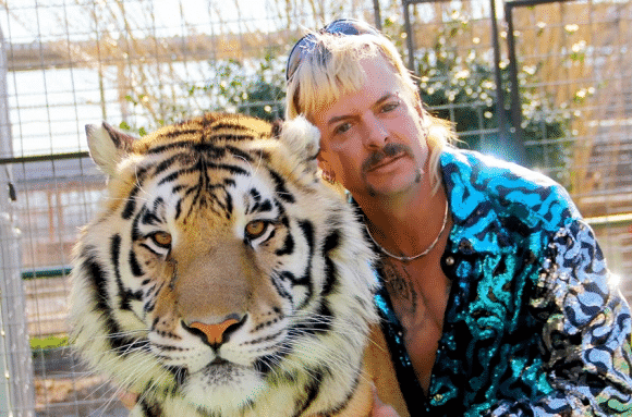 Tiger King's Joe Exotic pictured with Lion