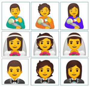 Some of the new gender inclusive emojis to be released later this year