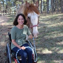 Jeanine Cook with her horse