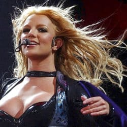 Britney Spears performing close up photo