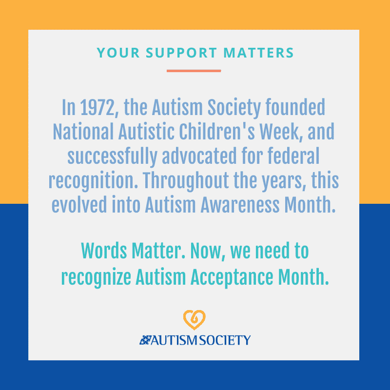 National Autism Awareness Month. illustration with text