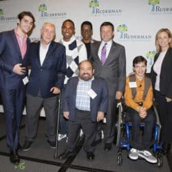 RJ Mitte, Robert David Hall, Jason George, Orlando Jones, Danny Woodburn, Jay Ruderman, Micah Fowler and Marlee Matlin attend the Ruderman Studio-Wide Roundtable On Disability Inclusion