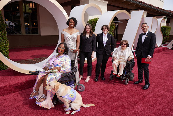 Crip Camp team pictured on the red carpet of the academy awards