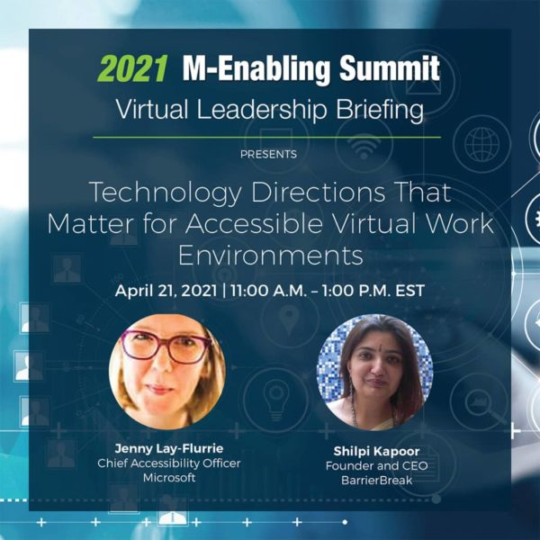 Event Flyer with m-enabling virtual leadership summit information