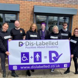 Disability awareness Staff members at Dis-labelled, (L-R) Jo-Anna, Alex, Emma O'Connor, Emily, Jo, Leon and Kelly