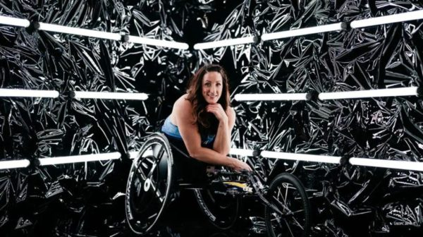 paralympic athlete Tatyana McFadden poses for a portrait during the Team USA Tokyo 2020 Olympics shoot on Nov. 19, 2019 in West Hollywood, Calif.