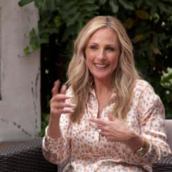 Marlee Matlin signing during a video interview